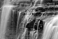 Upper Brandywine Falls Black & White, Cuyahoga Valley National Park, Ohio