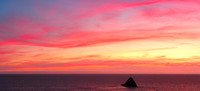 Pacific Sunset Panorama, Port Orford Heads State Park, Oregon