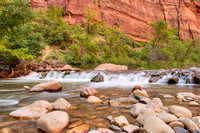 Waterfall, Riverside Walk, Zion National Park, Utah