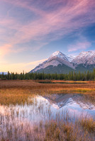 Elliot Peak at Dawn from White Goat Lakes, David Thompson Country, Alberta