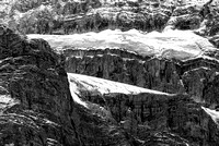 Crowfoot Glacier Black & White, Banff National Park, Alberta