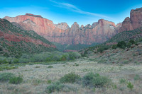 Towers of the Virgin Panorama, Zion Canyon, Zion National Park, Utah