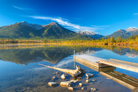 Third Vermillion Lake Boat Dock, Banff National Park, Alberta
