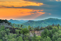 Auxier Ridge Sunset, Red River Gorge, Daniel Boone National Forest, Kentucky