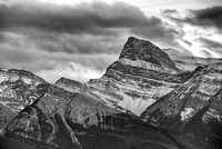 Mt. Peskett from the Kootenay Plains Black & White, David Thompson Country, Alberta