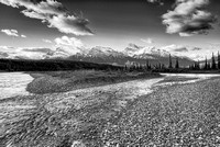 Saskatchewan River Morning Black & White, Kootenay Plains, David Thompson Country, Alberta