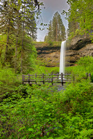 South Falls and Footbridge, Silver Falls State Park, Oregon