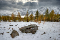 """A Hole in the Sky,"" Larch Valley, Banff National Park, Alberta"