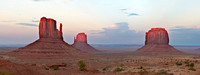 The Mittens and Merrick Butte Panorama, Monument Valley Navajo Tribal Park, Arizona