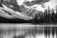 Bow Lake from the Bow River Black & White, Banff National Park, Alberta