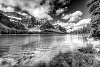 Bow River Outlet Black & White, Banff National Park, Alberta