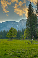 Yosemite Falls from Stoneman Meadow, Yosemite National Park, California