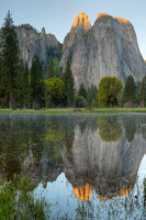Cathedral Rocks at Sunrise, Yosemite National Park, California