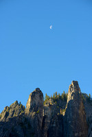Cathedral Rocks at Moonrise, Yosemite National Park, California