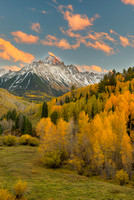 Mt. Sneffels at Sunset, County Road 7, Uncompahgre National Forest, Colorado