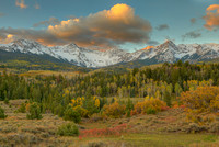 Mt. Sneffels at Sunrise, County Road 7, Uncompahgre National Forest, Colorado