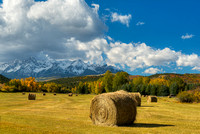 Hay Bales, County Road 9, Uncompahgre National Forest, Colorado