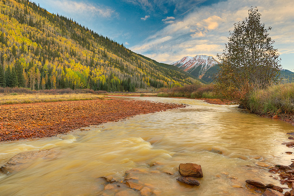 Red Mountain Creek at Sunset, Uncompahgre National Forest, Colorado