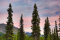 Sunset, George Parks Highway, Denali Borough, Alaska