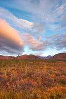 Sunset, Northern Dalton Highway, Brooks Range, Alaska