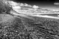 Sable Beach Black & White, Pictured Rocks National Lakeshore, Michigan