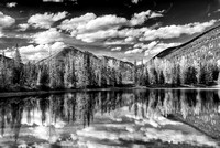 Faeder Lake Black & White, Yoho National Park, British Columbia