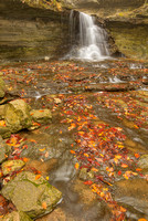 McCormick's Creek Waterfall in Autumn, McCormick's Creek State Park, Indiana