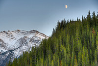 Whirlpool Point Moonrise, David Thompson Country, Alberta
