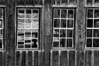 Mill Windows Black & White, McConnells Mill State Park, Pennsylvania