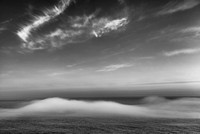 Marine Layer Clouds from North Island Viewpoint Black & White, Samuel H. Boardman State Park, Oregon
