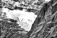 Angel Glacier Black & White, Jasper National Park, Alberta