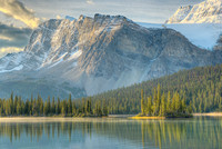 Crowfoot Glacier and Bow Lake, Banff National Park, Alberta