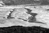 Athabasca Glacier Abstract Black & White, Columbia Icefields, Jasper National Park, Alberta