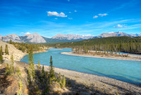 North Saskatchewan River from Whirlpool Point, David Thompson Country, Alberta
