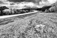 "David Thompson Highway Black & White, ""Belly of Abraham,"" David Thompson Country, Alberta"