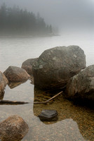 Jordan Pond in Fog, Acadia National Park, Maine