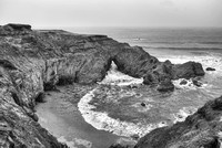 Otter Point Cove Black & White, Otter Point State Recreation Area, Oregon