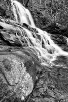 Laurel Falls Black & White, Great Smoky Mountains National Park, Tennessee