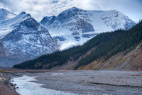 Mt. Andromeda & Athabasca Glacier, Columbia Icefields, Jasper National Park, Alberta