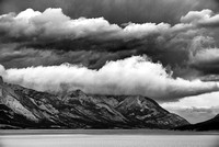 Approaching Storm Black & White, David Thompson Country, Alberta