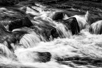 Little River Cascade Black & White, Great Smoky Mountains National Park, Tennessee