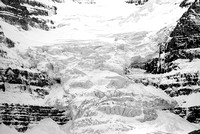 Athabasca Glacier Intimate  Black & White, Columbia Icefields, Jasper National Park, Alberta