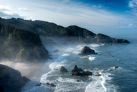 Pacific Coast from North Island Viewpoint, Samuel H. Boardman State Park, Oregon