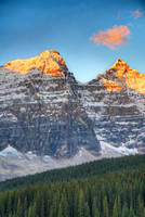 Ten Peaks at Sunrise, Moraine Lake, Banff National Park, Alberta