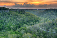Sunset from Chimney Rock Overlook, Red River Gorge, Daniel Boone National Forest, Kentucky