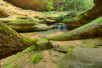 Middle Falls and Old Man's Cave #1, Old Man's Cave Area, Hocking Hills State Park, Ohio