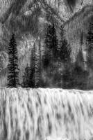 Wapta Falls Intimate Black & White, Yoho National Park, British Columbia