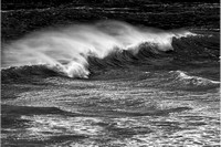Wind-Blown Surf Black & White, Whaleshead Viewpoint, Samuel H. Boardman State Park, Oregon
