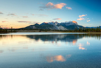 Athabasca River & Roche de Smet at Sunrise, Jasper National Park, Alberta