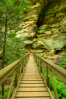 Gorge Bridge, Rock House Area, Hocking Hills State Park, Ohio